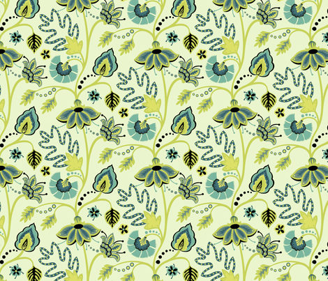 Mod_Floral_1 fabric by hellochloe on Spoonflower - custom fabric