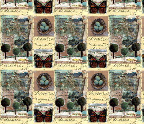 Nature Collaged fabric by elliebelly on Spoonflower - custom fabric