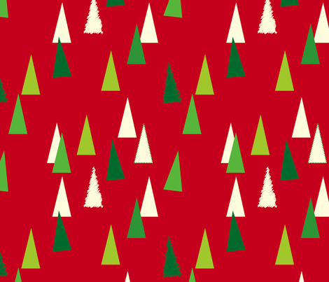 christmastrees fabric by cottageindustrialist on Spoonflower - custom fabric