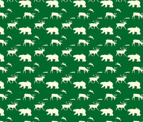 winteranimals fabric by cottageindustrialist on Spoonflower - custom fabric