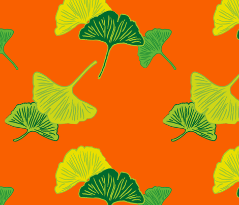 gingko fabric by cottageindustrialist on Spoonflower - custom fabric