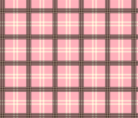 pink plaid 2 fabric by comzikraut on Spoonflower - custom fabric