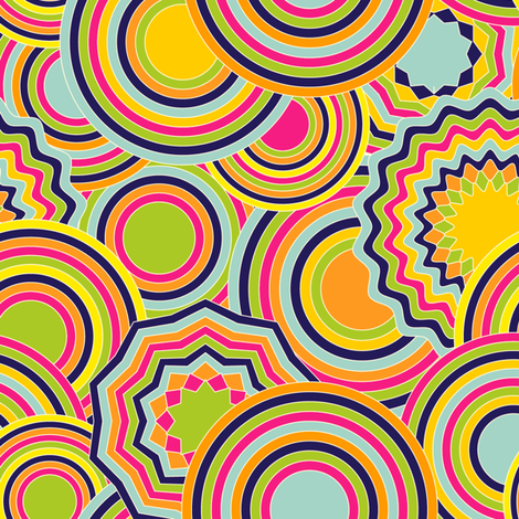 psychedelic circles fabric by cottageindustrialist on Spoonflower - custom fabric