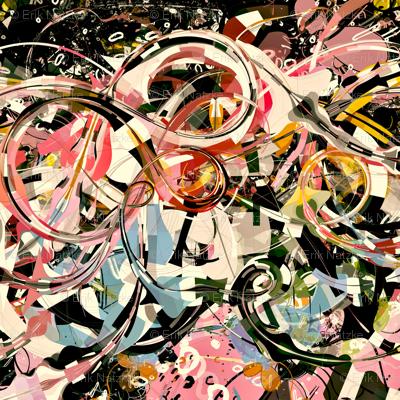 PinkGalaxyflat_18x18