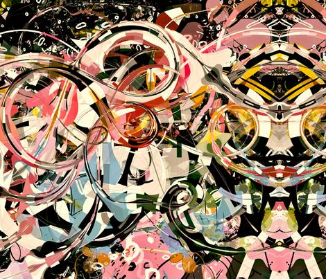 PinkGalaxyflat_18x18 fabric by natzke on Spoonflower - custom fabric