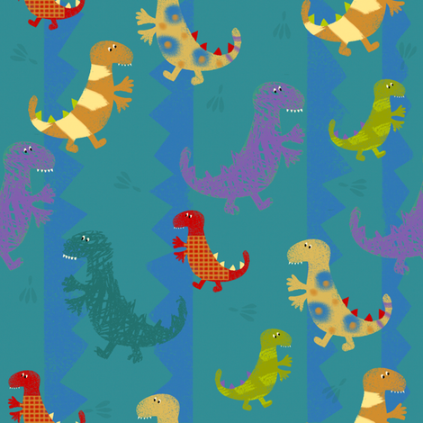 Dino Fun fabric by redfish on Spoonflower - custom fabric