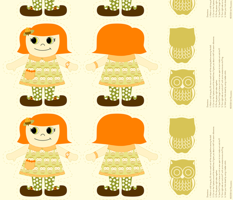 Kooky doll fabric fabric by val_rousseau on Spoonflower - custom fabric