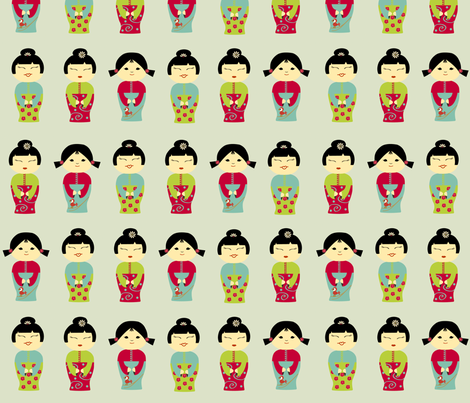 Sweet Asian Girls fabric by kori on Spoonflower - custom fabric