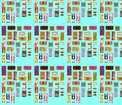 Vintage Tickets fabric by lavitalola on Spoonflower - custom fabric