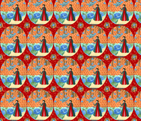 rainbirdsfabric1200 fabric by amarettogirl on Spoonflower - custom fabric