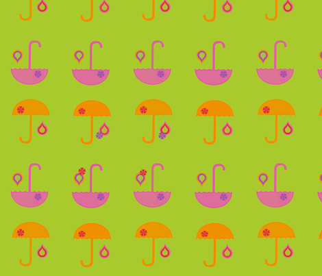 sunnyumbrellas fabric by snork on Spoonflower - custom fabric