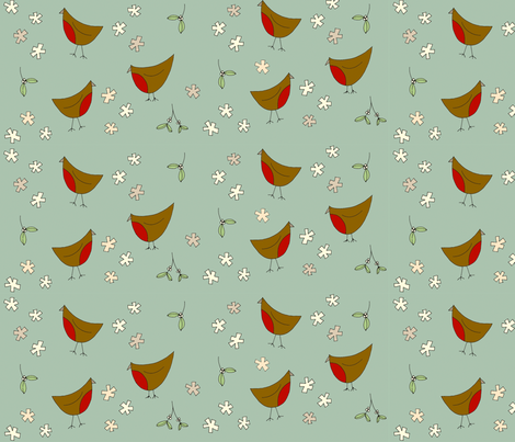 Christmas_birds_final fabric by phatsheepfabrics on Spoonflower - custom fabric