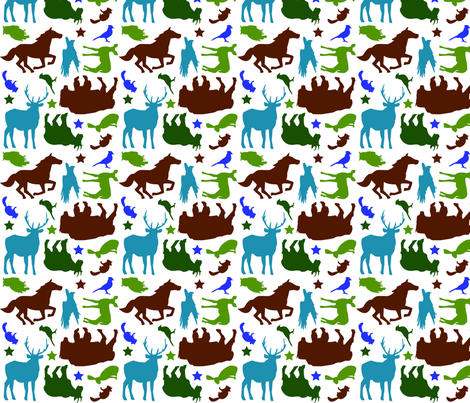 Wild West - Earth tones fabric by beckarahn on Spoonflower - custom fabric