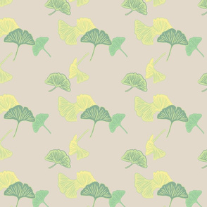 muted ginkgo half-step repeat