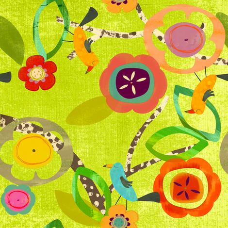 Bird Garden  fabric by redfish on Spoonflower - custom fabric