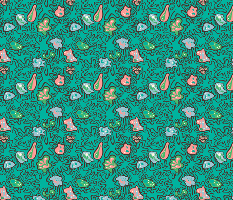 Ameobas fabric by totallysevere on Spoonflower - custom fabric