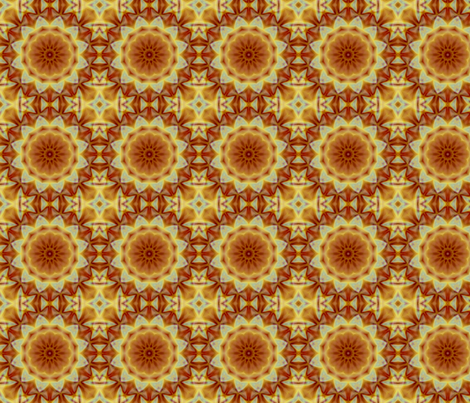 Emperor_s_SunFlower_tile fabric by dreamwhisper on Spoonflower - custom fabric