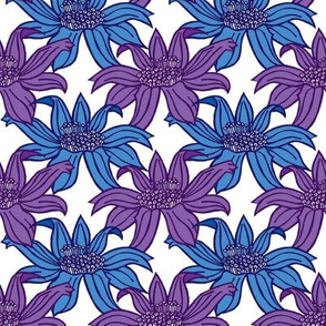 Floral - Purple and Blue