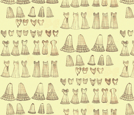 Victorian Lingerie fabric by nalo_hopkinson on Spoonflower - custom fabric
