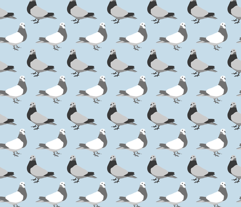 Pigeon Parade fabric by someday on Spoonflower - custom fabric