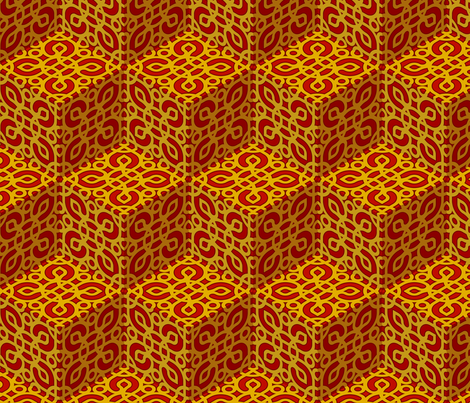 RED ZEN 01 fabric by fischer on Spoonflower - custom fabric