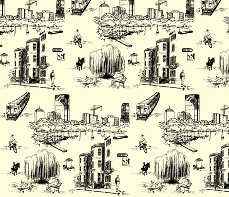 Boston Toile fabric by litabug on Spoonflower - custom fabric