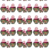 Babushka Nesting Dolls Roses