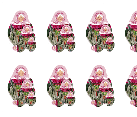 Babushka-nesting-dolls fabric by karenharveycox on Spoonflower - custom fabric