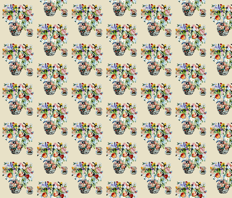 Tulip Tea fabric by karenharveycox on Spoonflower - custom fabric