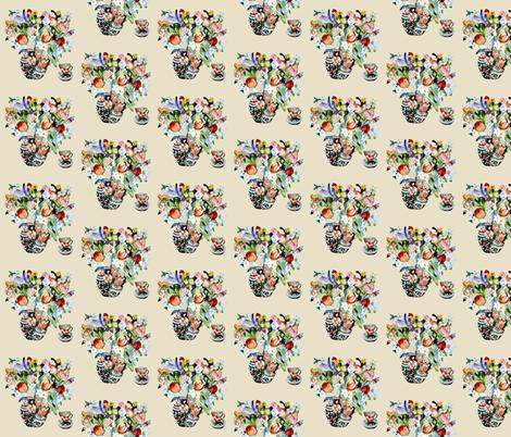Tulip Tea fabric by karenharveycox on Spoonflower - custom fabric