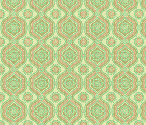 Green Victorian fabric by midcenturymaude on Spoonflower - custom fabric