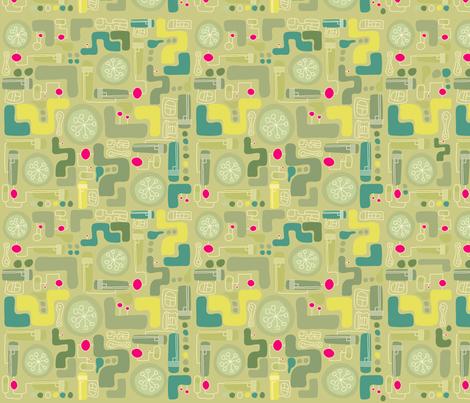 gadget philosophy fabric by greenkaijyu on Spoonflower - custom fabric