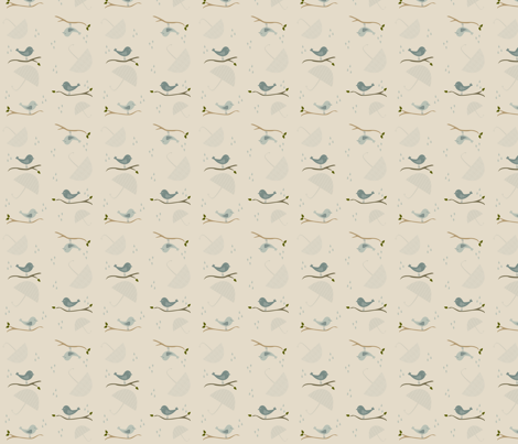 birds fabric by chanina on Spoonflower - custom fabric