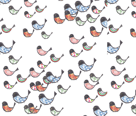 bird3 fabric by tamptation on Spoonflower - custom fabric