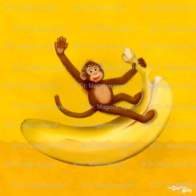 """Zoo in My Belly Monkey 15"""""""