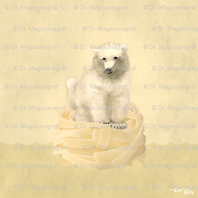 Zoo in My Belly Polar Bear 15""