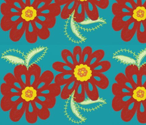 Rbloom_in_red_-blue_bg_for_spoonflower_shop_preview