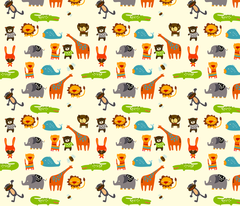 Animals fabric by suryasajnani on Spoonflower - custom fabric