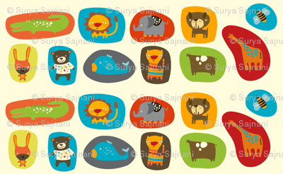 Animals in Shapes