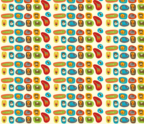 Animals in Shapes fabric by suryasajnani on Spoonflower - custom fabric