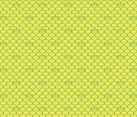 Green Bears fabric by beeskneesindustries on Spoonflower - custom fabric