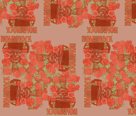 Hollyhock fabric by nalo_hopkinson on Spoonflower - custom fabric