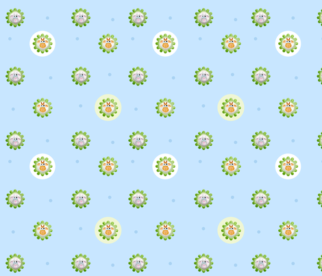 knubbeldinger-flower fabric by vina on Spoonflower - custom fabric