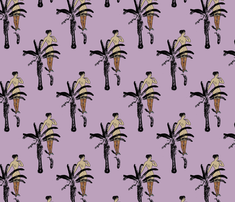 Nude Tempted by Fruit Too fabric by nalo_hopkinson on Spoonflower - custom fabric