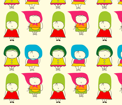 Cute little girls fabric by yaelfran on Spoonflower - custom fabric