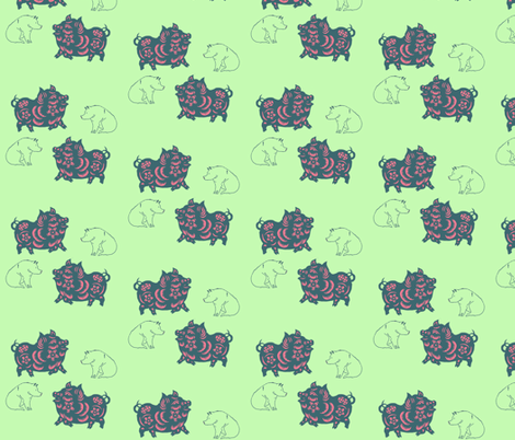 This Little Piggy, one fabric by nalo_hopkinson on Spoonflower - custom fabric