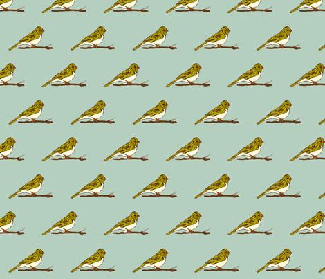Birdy Blue fabric by katty on Spoonflower - custom fabric