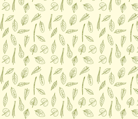 Identi-leaf fabric by katty on Spoonflower - custom fabric