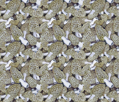 Morel Dilemma fabric by helenklebesadel on Spoonflower - custom fabric