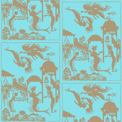Mermaid Town fabric by nalo_hopkinson on Spoonflower - custom fabric